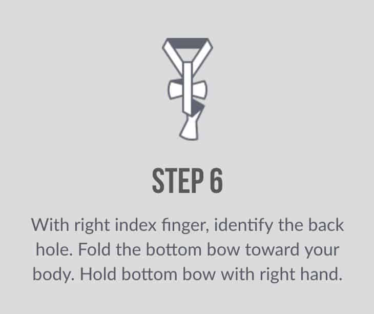 how to tie bow tie sixth step