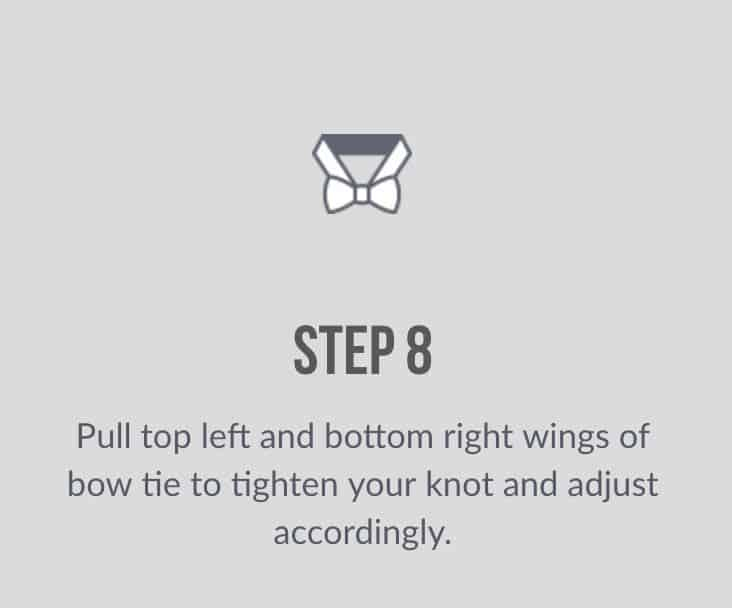 how to tie bow tie eighth step